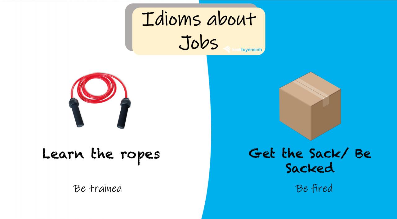 Top 10 thành ngữ tiếng Anh thông dụng chủ đề 'Công việc'